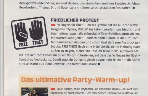 free tibet, audimax, sportfreunde stiller, wir sind helden, udo lindenberg, beatsteaks, 9fingersfortibet, xynias wetzel, better, the fashion revolution