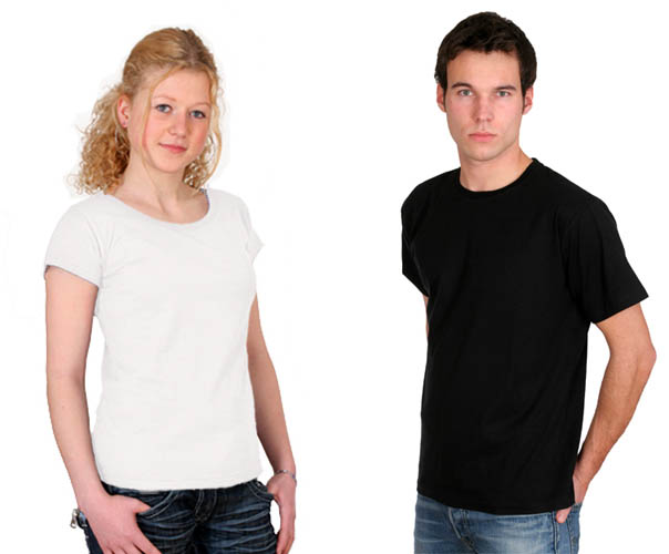 biobaumwolle-shirt black boys men girls weiss
