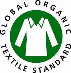 das Zeichen für den Global Organic Textile Standard