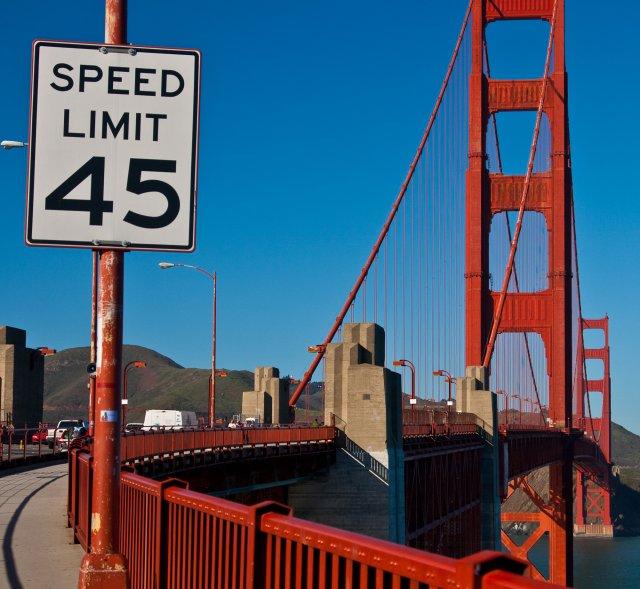 """Mit 45mph über das """"Golden Gate"""""""